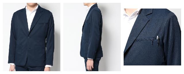 テーラードジャケット|ネイビー・メンズ