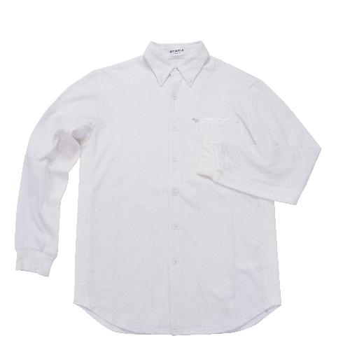 長袖リブコンビシャツ|ホワイト・メンズ