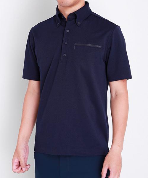 半袖ワークビズポロシャツ|ネイビー・メンズ