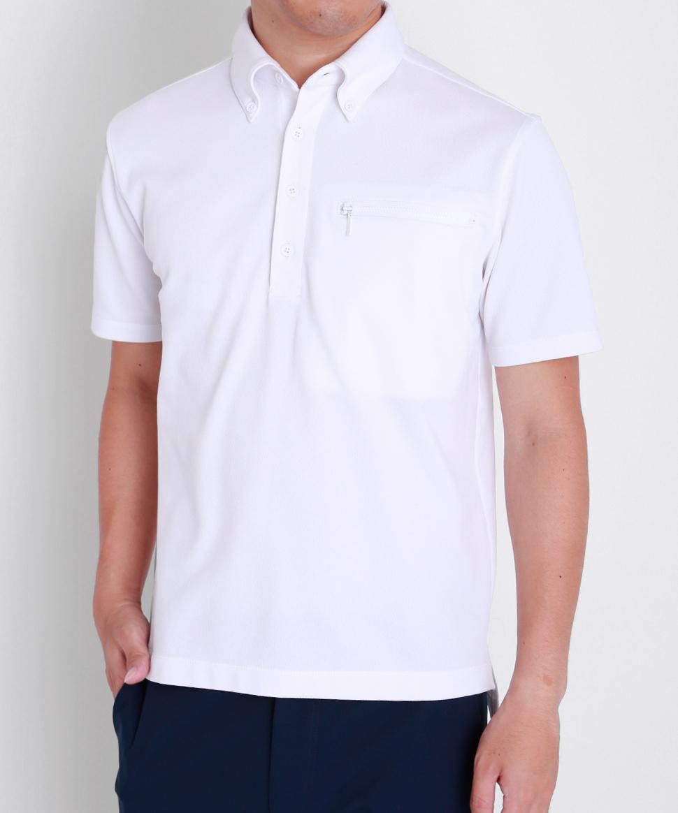 半袖ワークビズポロシャツ|ホワイト・メンズ